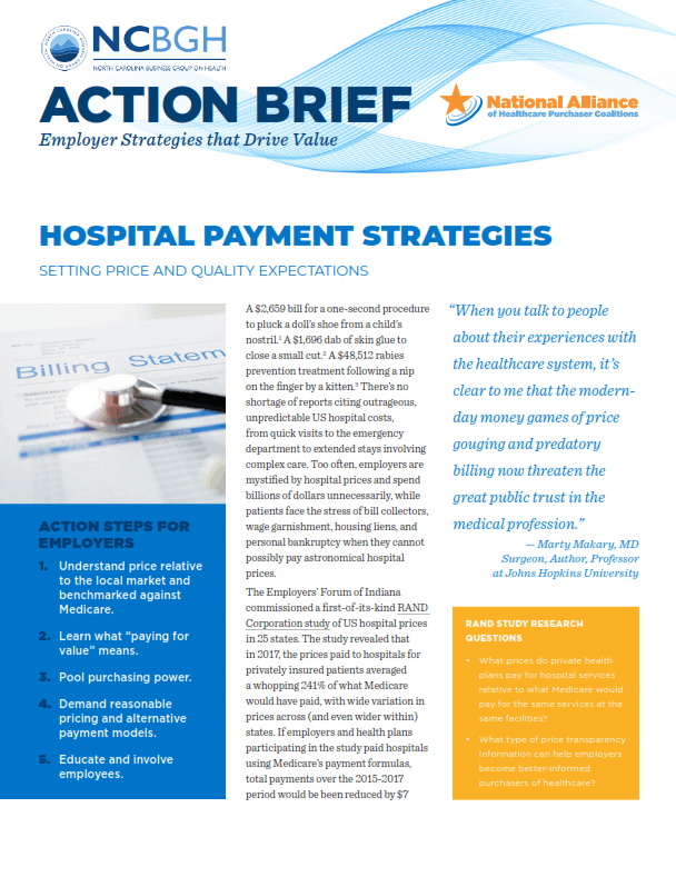 Hospital Payment Strategies