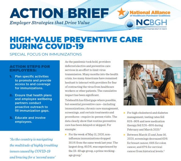 High Value Preventive Care During COVID-19