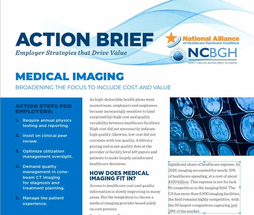 Medical Imaging: Broadening the Focus to Include Cost and Value